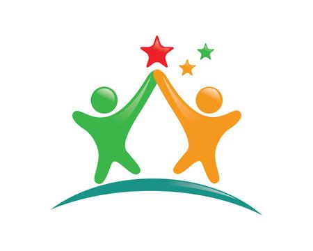 Illustration pour Community care Logo - image libre de droit