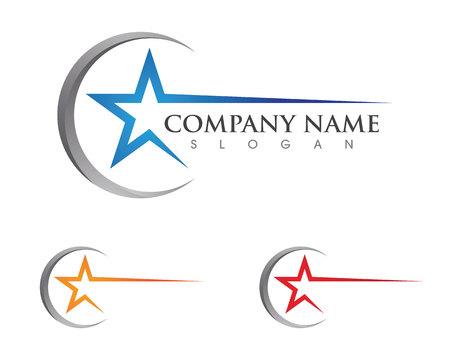 Ilustración de Star Logo Template vector icon illustration design - Imagen libre de derechos