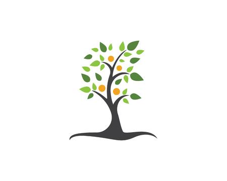 Ilustración de Family tree symbol icon logo design template illustration. - Imagen libre de derechos