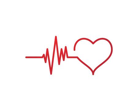 Illustration pour Art design health medical heartbeat pulse symbol icon design. - image libre de droit