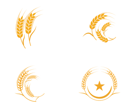 Foto per Agriculture wheat Template vector icon design illustration - Immagine Royalty Free