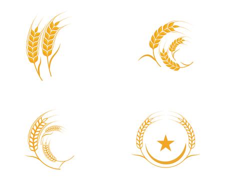 Illustration pour Agriculture wheat Template vector icon design illustration - image libre de droit