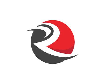 R Letter Logo Template vector illustration design