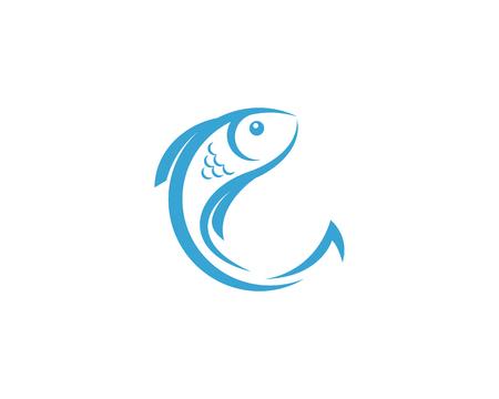Vektor für Fish Icon vector illustration logo template design - Lizenzfreies Bild