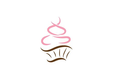 Photo for cake ilustration logo vector template - Royalty Free Image