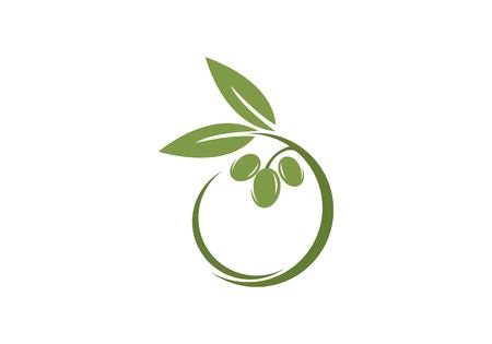 Ilustración de olive icon template Vector illustration. - Imagen libre de derechos