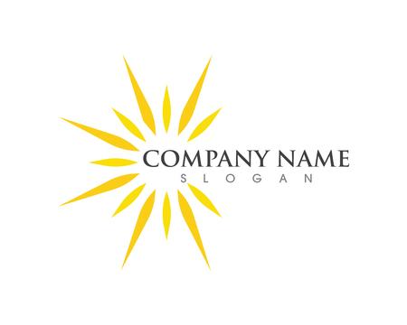 Illustration pour Sun Vector illustration Icon Logo Template design - image libre de droit