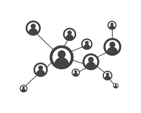 Illustration pour People network and social icon design template. - image libre de droit