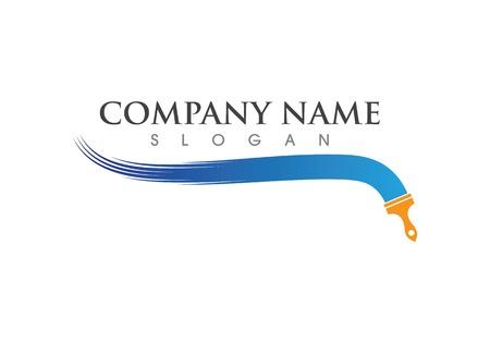 Illustration pour Paint logo vector template - image libre de droit