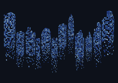 Ilustración de city skyline background vector illustration design - Imagen libre de derechos