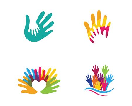 Ilustración de Hand Care Logo Template vector icon Business - Imagen libre de derechos