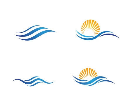 Ilustración de Water wave icon vector illustration design logo template - Imagen libre de derechos