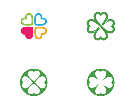Illustration for Green Clover Leaf Logo Template Design Vector - Royalty Free Image