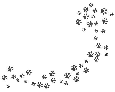 Ilustración de Paw icon vector illustration design logo template - Imagen libre de derechos