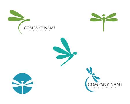 Ilustración de Dragonfly illustration icon design template vector - Imagen libre de derechos
