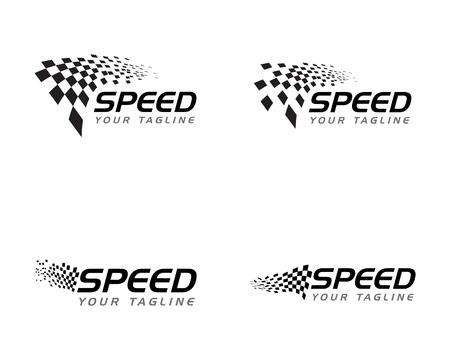 Illustration pour Race flag icon, simple design illustration vector - image libre de droit