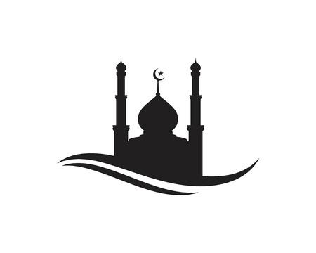 Illustration pour Mosque Moslem icon vector Illustration design template - image libre de droit