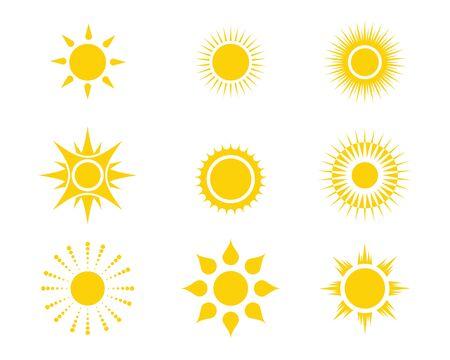 Illustration pour Sun Vector illustration Icon  Template design - image libre de droit