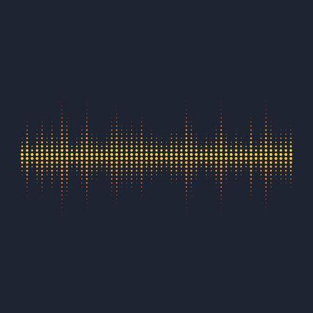 Illustration pour Sound waves vector illustration design template - image libre de droit