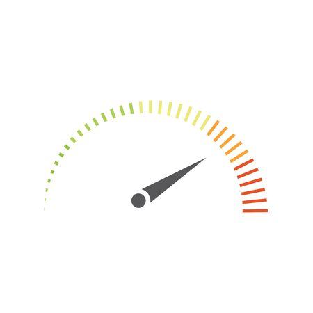 Illustration pour Speedometer vector illustration icon design - image libre de droit