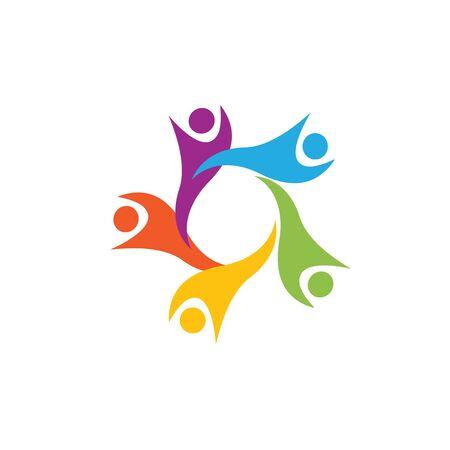 Illustration pour Community, network and social icon design template - image libre de droit