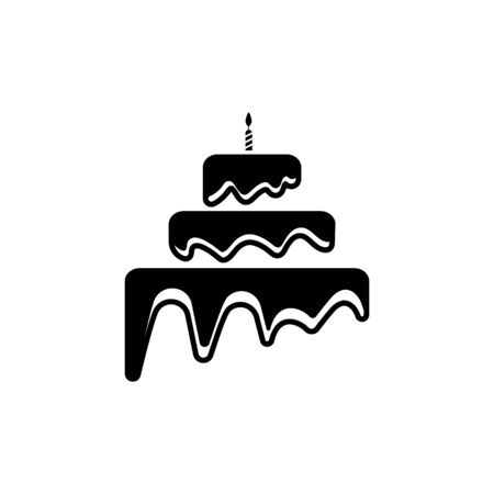 Illustration for Cake sign icon vector illustration design template - Royalty Free Image