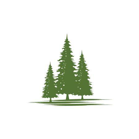 Illustration pour Cedar tree vector icon illustration design template - image libre de droit