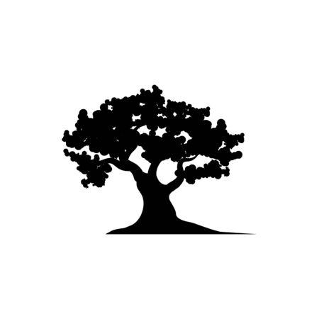 Illustration pour Oak Tree icon Vector Illustration design Logo template - image libre de droit