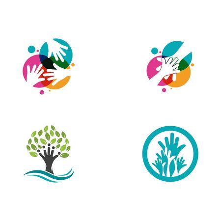Illustration pour Hand Care icon Template vector illustration design - image libre de droit