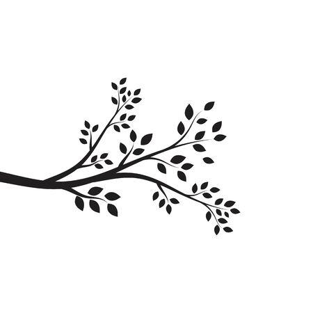 Ilustración de tree branch vector ilustration design template - Imagen libre de derechos