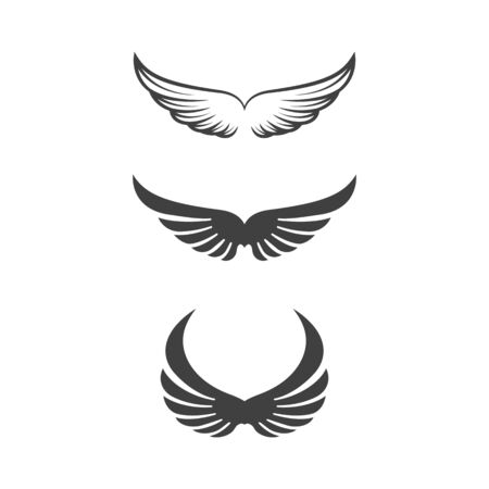 Illustration for Falcon wing icon Template vector illustration design - Royalty Free Image