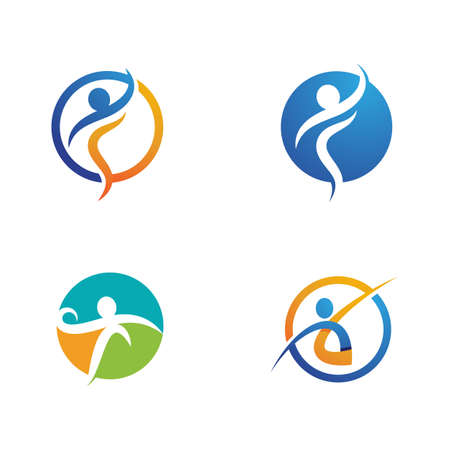 Illustration pour Human character logo sign illustration vector design - image libre de droit