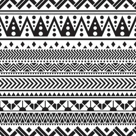 Illustration pour Tribal seamless pattern geometric seamless aztec pattern design - image libre de droit