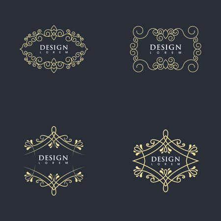 Illustration pour Vintage border line Template vector illustration design - image libre de droit