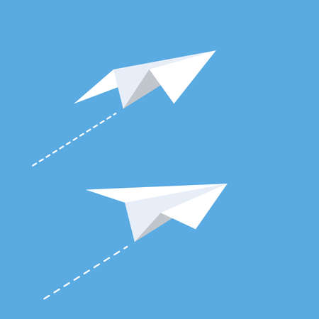 Illustration for Paper plane Vector icon design illustration Template - Royalty Free Image