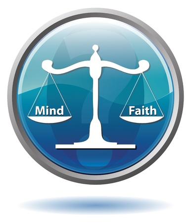 Mind or Faith button
