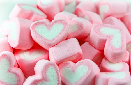 Pink and White Marshmallow background