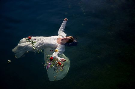 Young drown woman in a poetic representation
