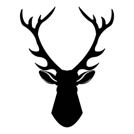 Illustration for Deer head icon. Simple illustration of deer head vector icon for web design isolated on white background - Royalty Free Image