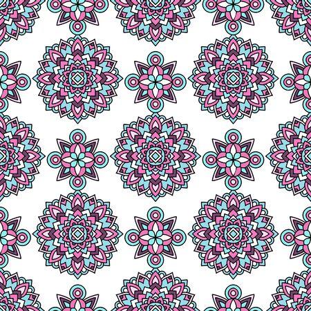 Photo pour Trendy color tribal pattern. Outline illustration of trendy color tribal vector pattern for web design - image libre de droit