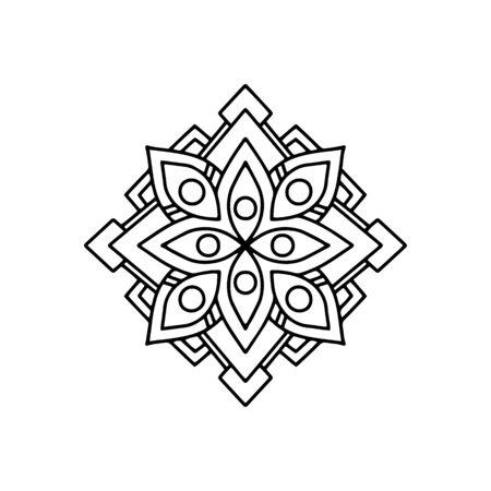 Illustration pour Flower mandala icon. Outline flower mandala vector icon for web design isolated on white background - image libre de droit