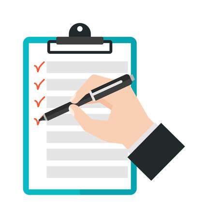 Illustration pour Agenda list icon vector illustration. Business concept with paper agenda document flat style. Agenda calendar, self-adhesive notes, color marker, article agenda. - image libre de droit