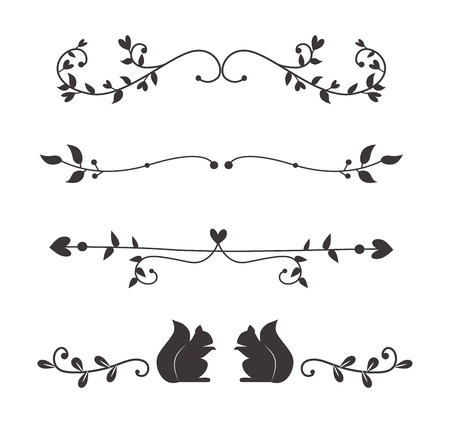 Text divider, grunge element can be separated easily. Text separators decoration large selection of diverse editable. Vector dividers or breaks text separators decoration vintage style design.