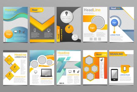 Illustration pour Cover design of annual report template. - image libre de droit