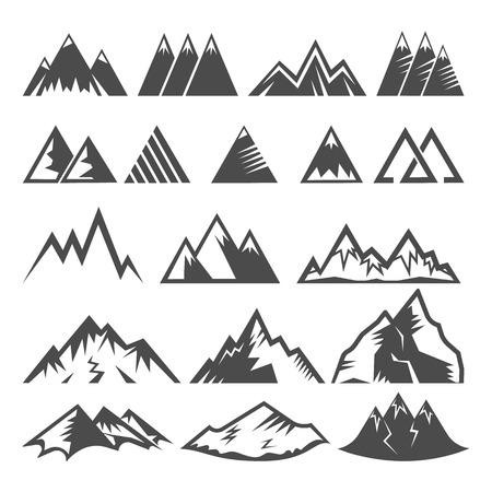 Illustration pour Set of mountain logo - image libre de droit
