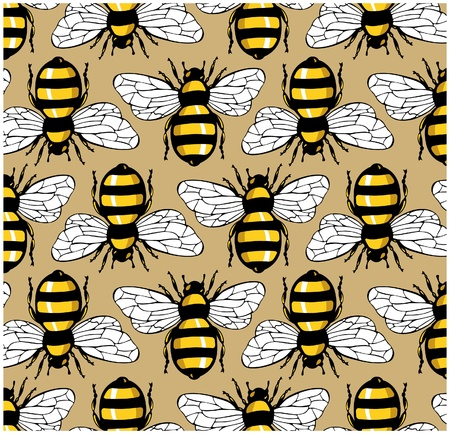 bee honey pattern