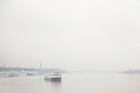 Steamboat in the fog
