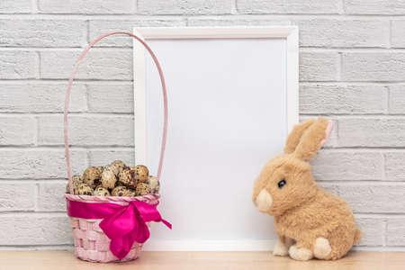 Photo pour Little soft rabbit and sweets for kids - image libre de droit