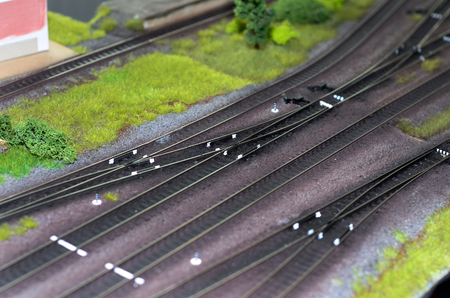 Toy train model railway