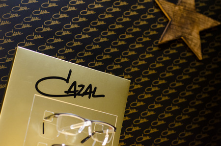 Soest, Germany - January 1, 2019: Cazal glasses for sale. Cazal Eyewear is a luxury sunglass designer based in Germany which manufactures the Legends line of sunglasses, created by Cari Zalloni.